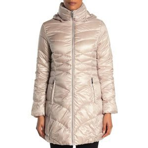 Via Spiga Quilted Packable Puffer Jacket